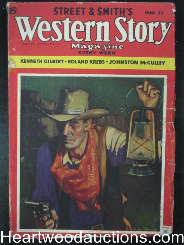 Western Story Mar 1935  John Drew Cvr, Johnston McCulley