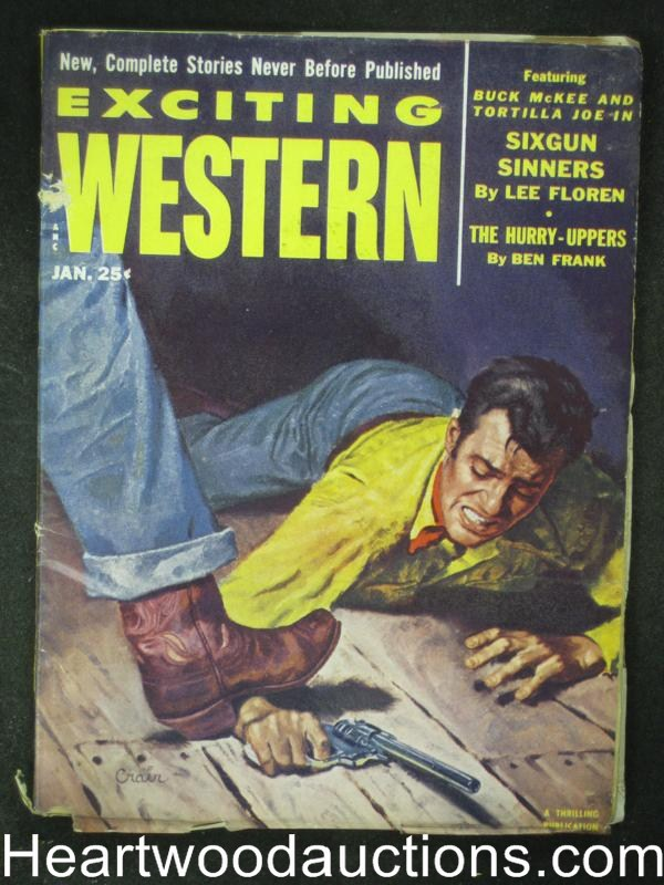 Exciting Western Jan 1953  Mel Crair Cover - High Grade