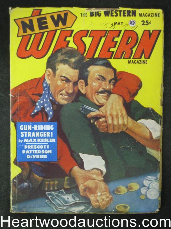 New Western May 1951  Gambling fight Cvr