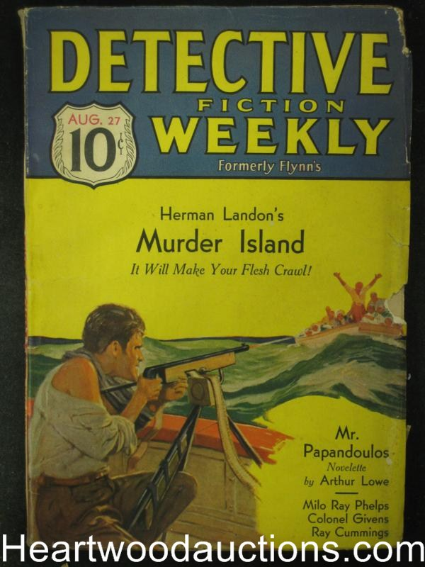 Detective Fiction Aug 27, 1932   Herman Landon Cover Story