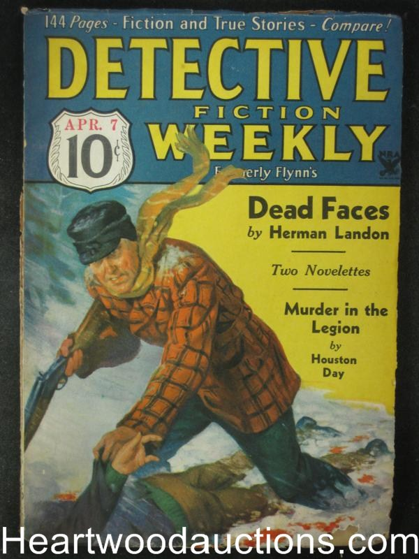 Detective Fiction Apr  07, 1934   Herman Landon Cover Story,Max Brand, Ray Cummings