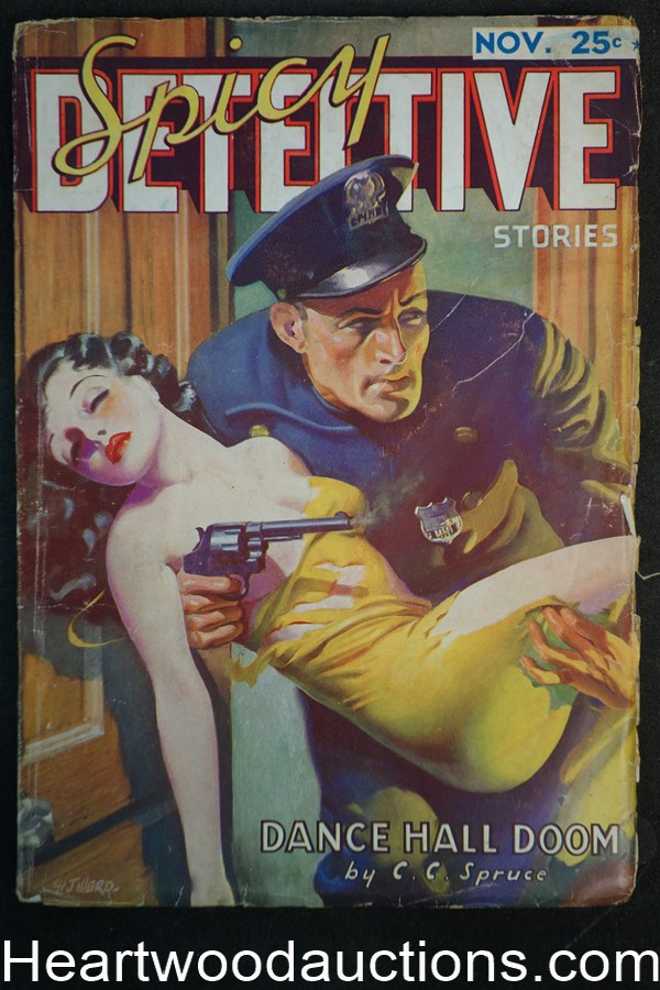 Spicy Detective Nov 1935  H.J. Ward cover,