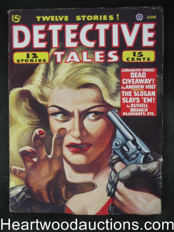 Detective Tales- Jun 1947- Assault Cvr- High Grade