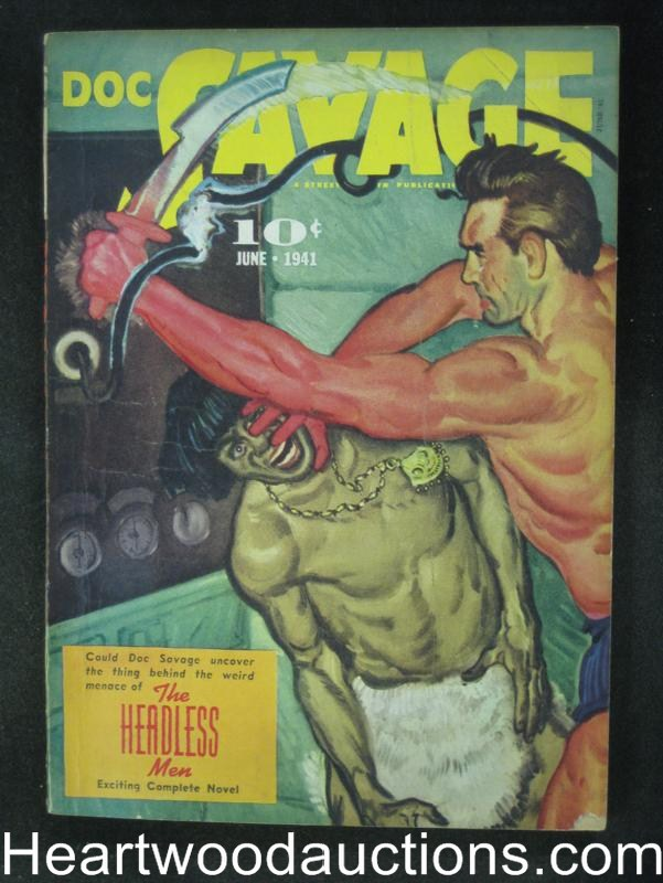Doc Savage- Jun 1941- The Headless Men- High Grade