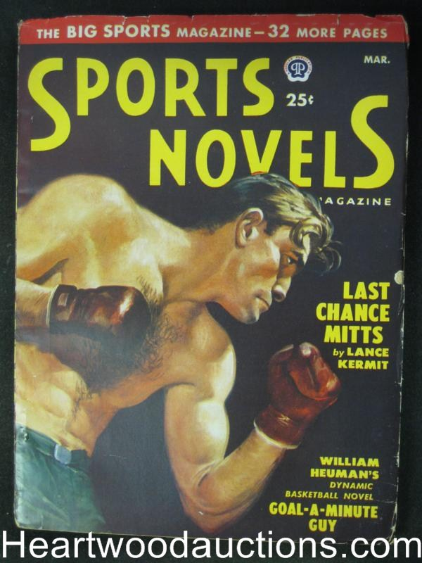 Sports Novels Mar 1950 Lance Kermit, Ray P. Shotwell, Boxing Cvr- High Grade
