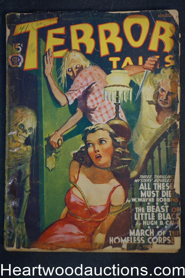 Terror Tales Mar 1941 Bondage Cvr March of the Homeless Corpses, Final Issue