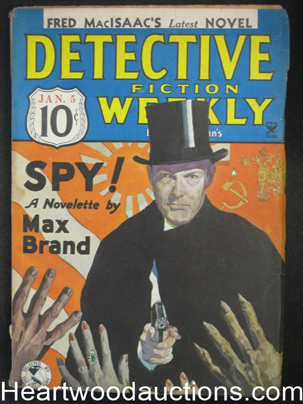 Detective Fiction Weekly Jan 5, 1935 Cool Max Brand Cvr