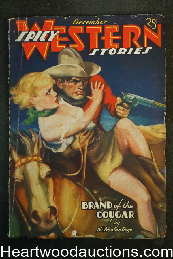 Spicy Western Dec 1936 H.J. Ward Cover
