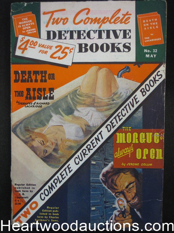 Two Complete Detective Books May 1945 George Gross Cvr