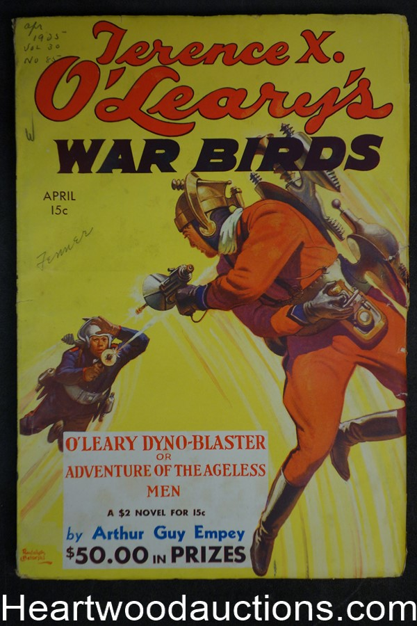 War Birds Apr 1935 Wild Belarski Sci-Fi jet pack cover