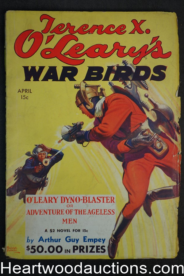 Terrance X. O'Leary's War Birds Apr 1935 Wild Belarski Sci-Fi jet pack cover