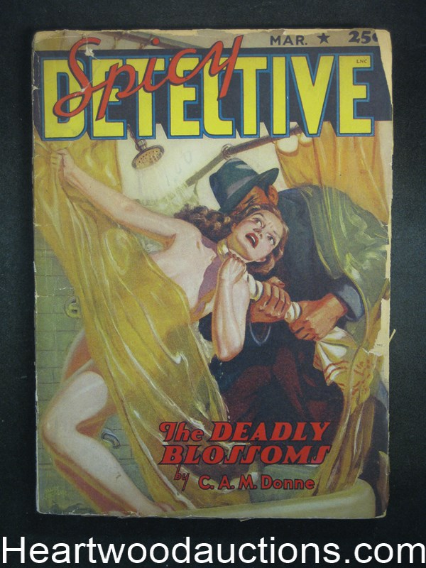 Spicy Detective Mar 1942 Wild Ward assault Cvr