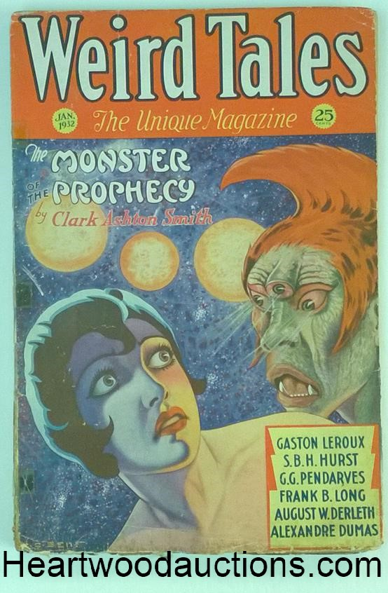 Weird Tales Jan 1932 2nd Published story by Carl Jacobi