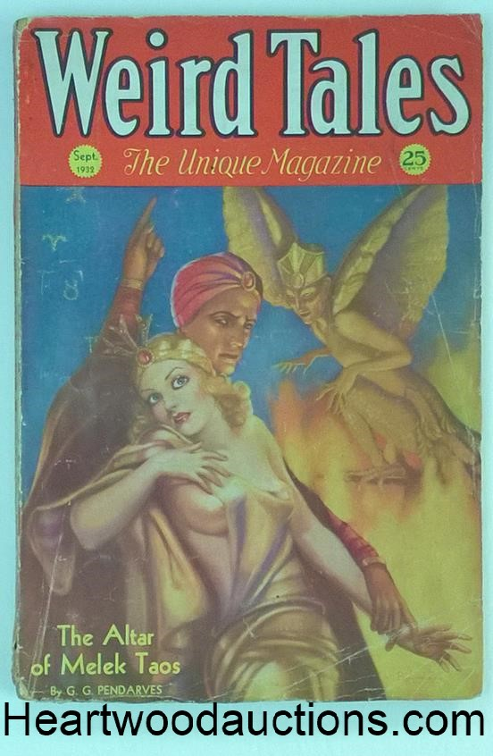 Weird Tales Sep 1932 1st Weird Tales cover by Margaret Brundage