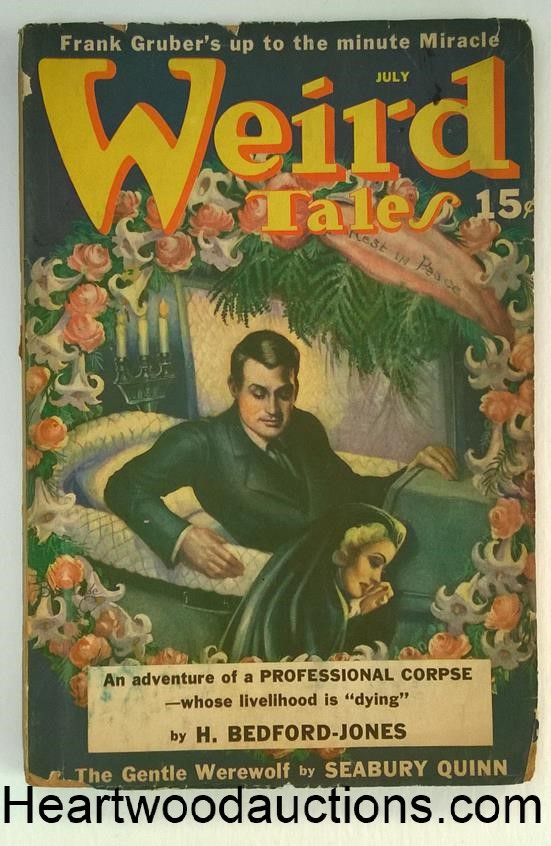Weird Tales Jul 1940 Brundage cvr, Quinn, Frank Gruber, Bloch, Bedford-Jones