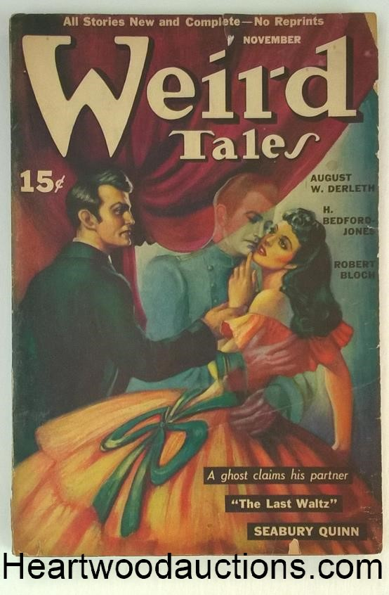 Weird Tales Nov 1940 Brundage Cvr. HP Lovecraft, Quinn, Bloch