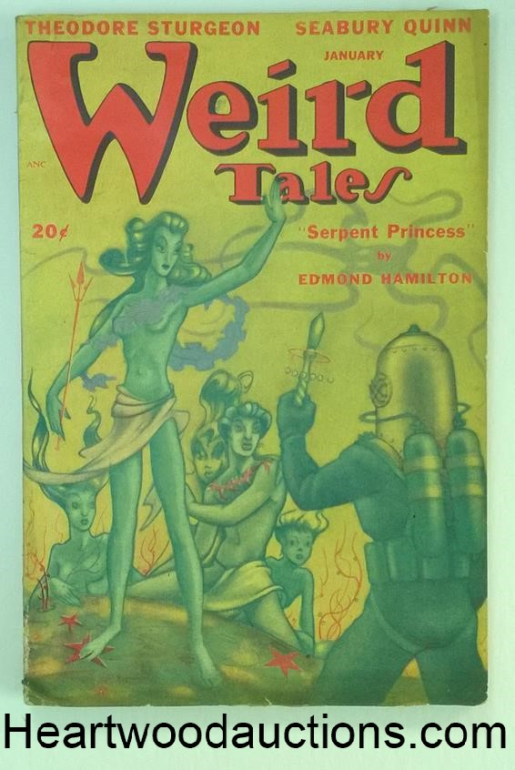 Weird Tales Jan 1948 Quinn; Jacobi; Sturgeon