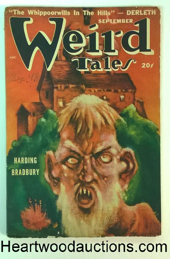 Weird Tales Sep 1948 Ray Bradbury, Derleth, Coblentz