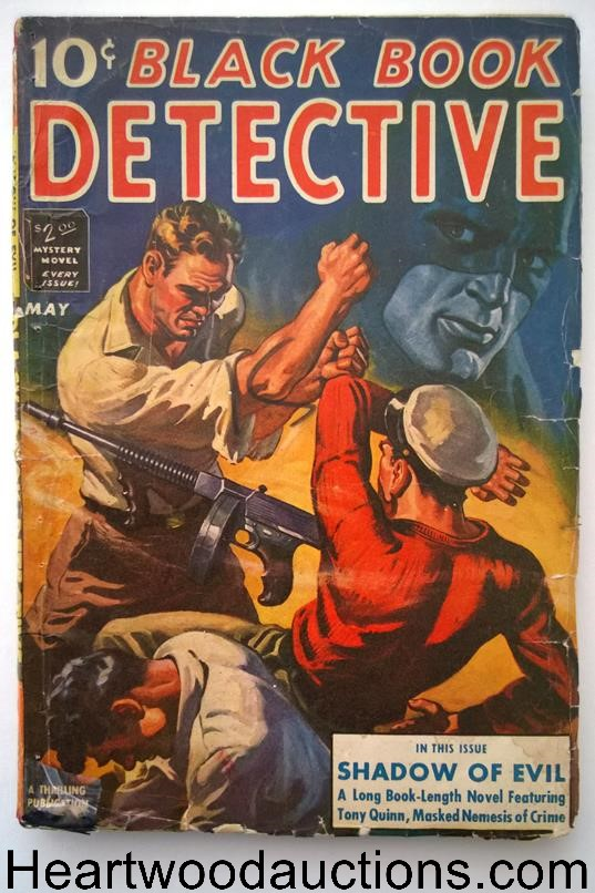 Black Book Detective May 1942  Tommy Gun Cover by Gault, The Black Bat