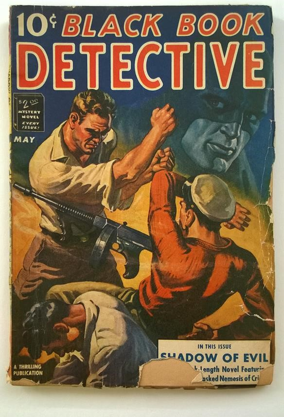 Black Book Detective May 1942  Tommy Gun Cover; The Black Bat