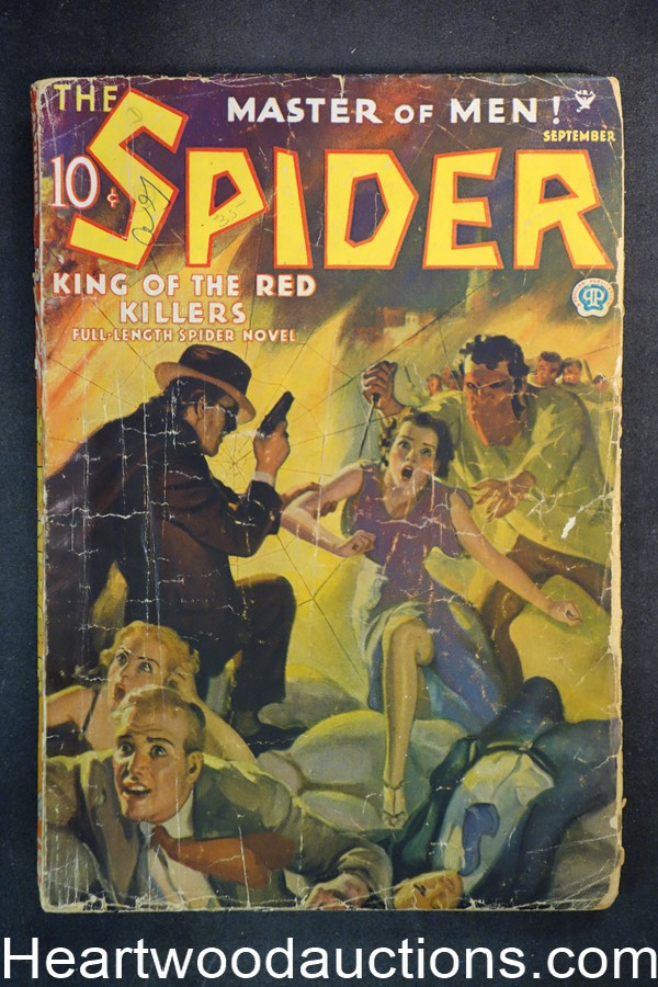 The Spider Sep 1935 John Newton Howitt Cvr, King of the Red Killers, Norvell Page