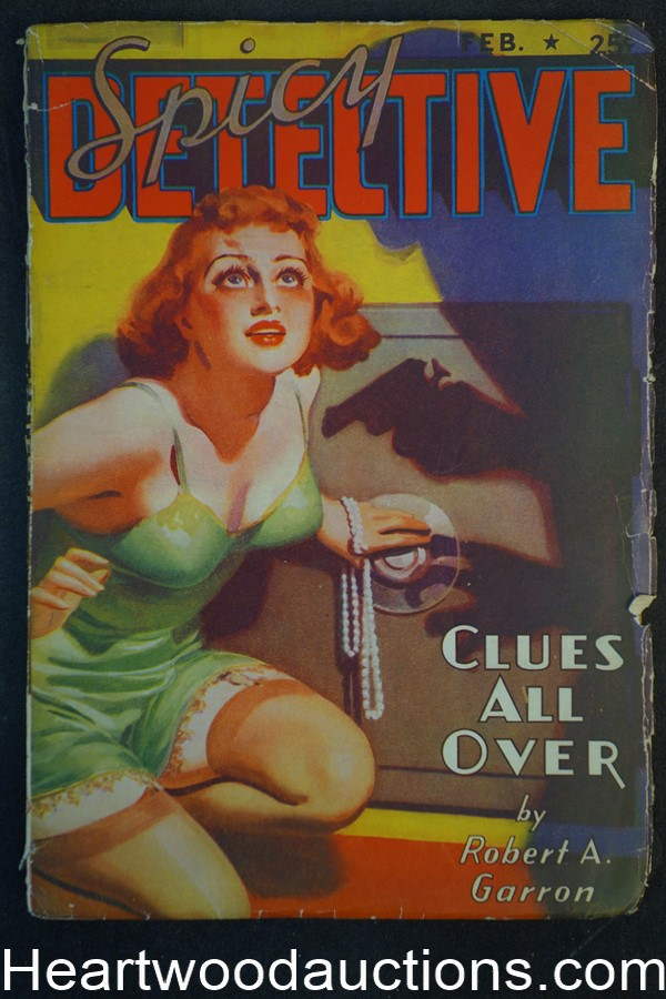 Spicy Detective Feb 1938 H.J. Ward GGA, Robert Leslie Bellem, E. Hoffman Price