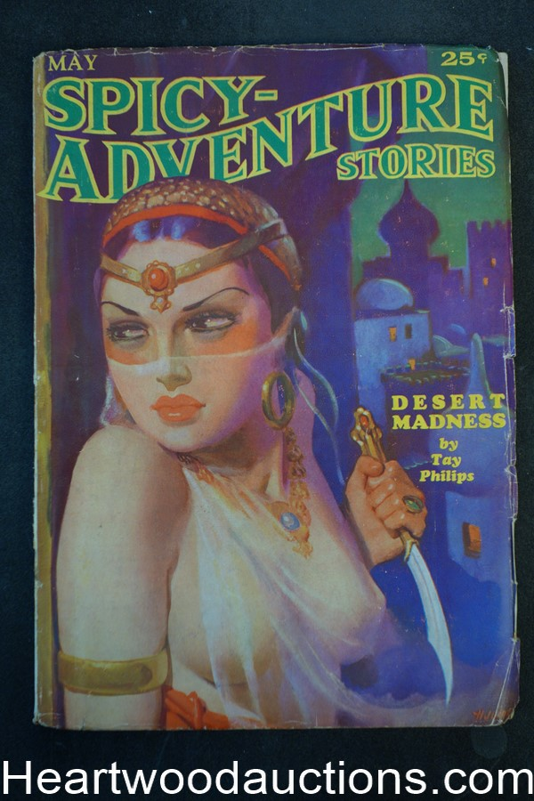 Spicy Adventure May 1935 H.J. Ward GGA cover Robert Leslie Bellem