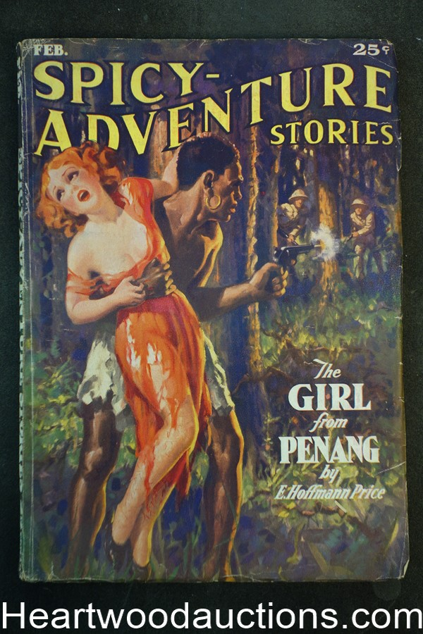 Spicy Adventure Feb 1936 GGA kidnapping, Hugh B. Cave, Bellem, E. Hoffman Price