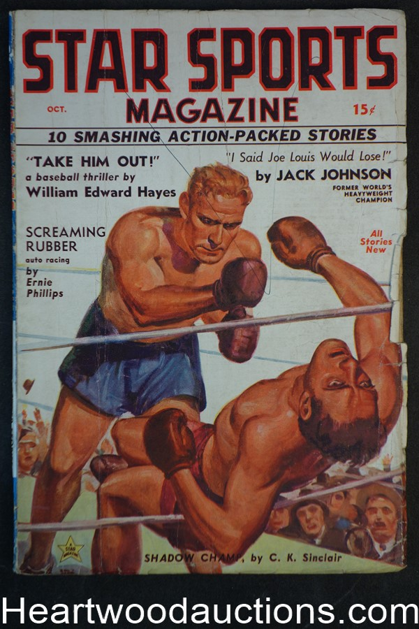 Star Sports Oct 1936 FIRST ISSUE #1 J.W. Scott Boxing Cvr
