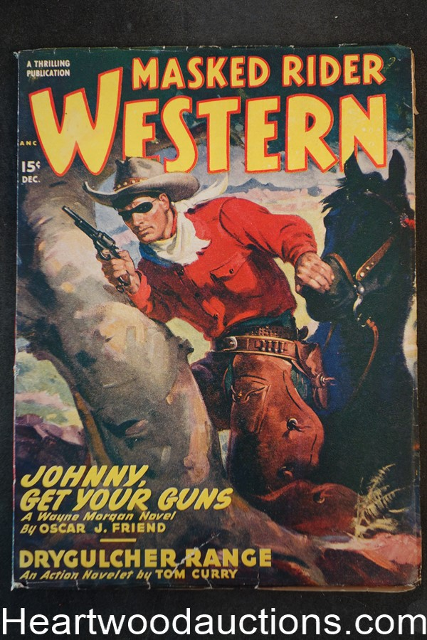Masked rider western dec 1948 george rozen cover johnston for Uncle tom s cabin first edition value