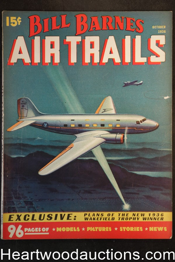 Bill Barnes Air Trails Oct 1936 George L. Eaton, World War I