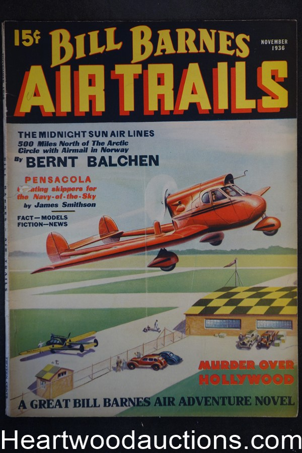 Bill Barnes Air Trails Nov 1936  Murder mover Hollywood
