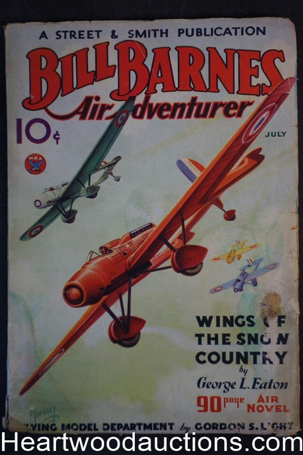 Bill Barnes Air Adventurer Jul 1934 First issue written by Charles S. Verral Frank Tinsley Aviation hero Cover