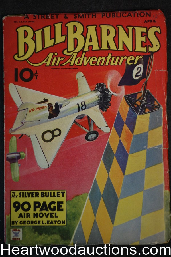 Bill Barnes Air Adventurer Apr 1935 Frank Tinsley cover and art, aviation hero