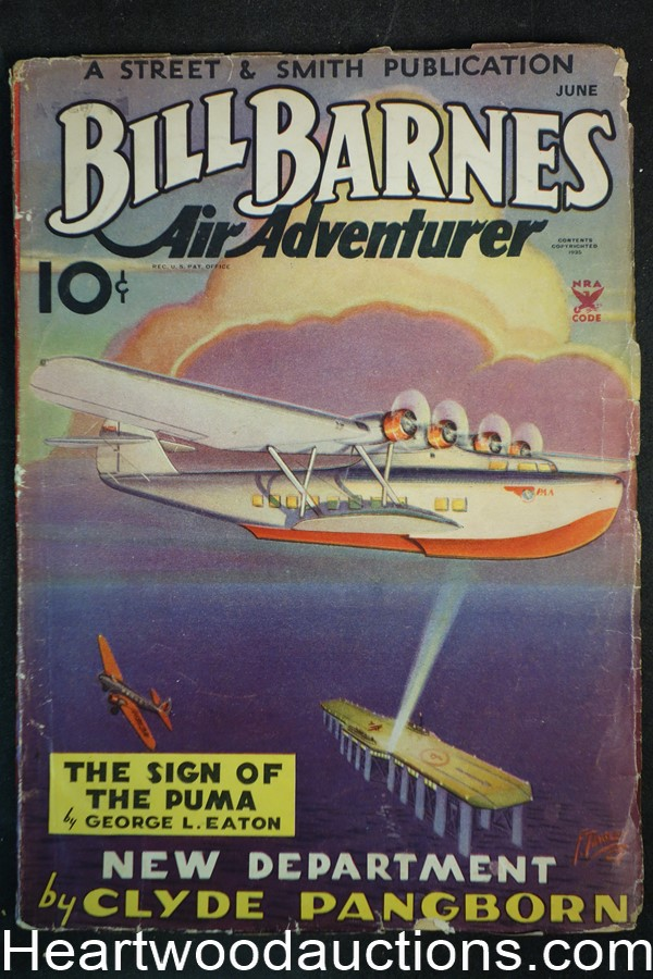 Bill Barnes Air Adventurer Jun 1935 Frank Tinsley cover and art, aviation hero