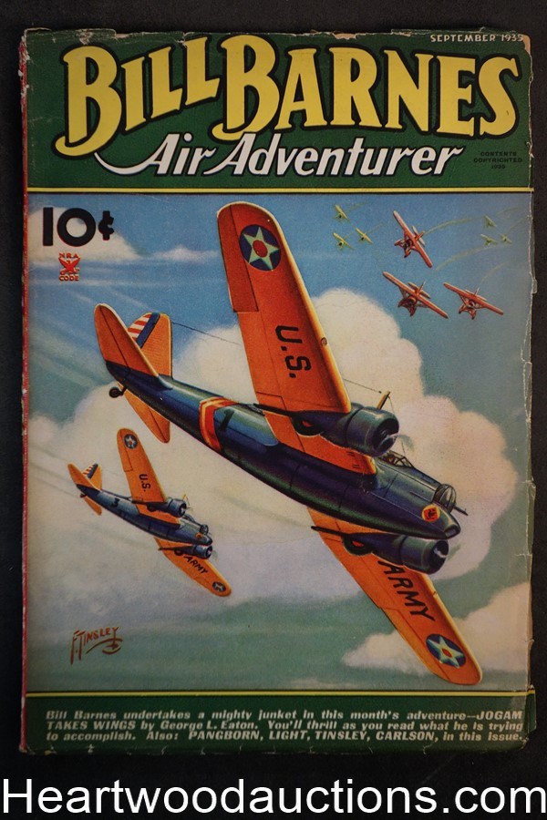 Bill Barnes Air Adventurer Sep 1935 Frank Tinsley Cvr, George L. Eaton