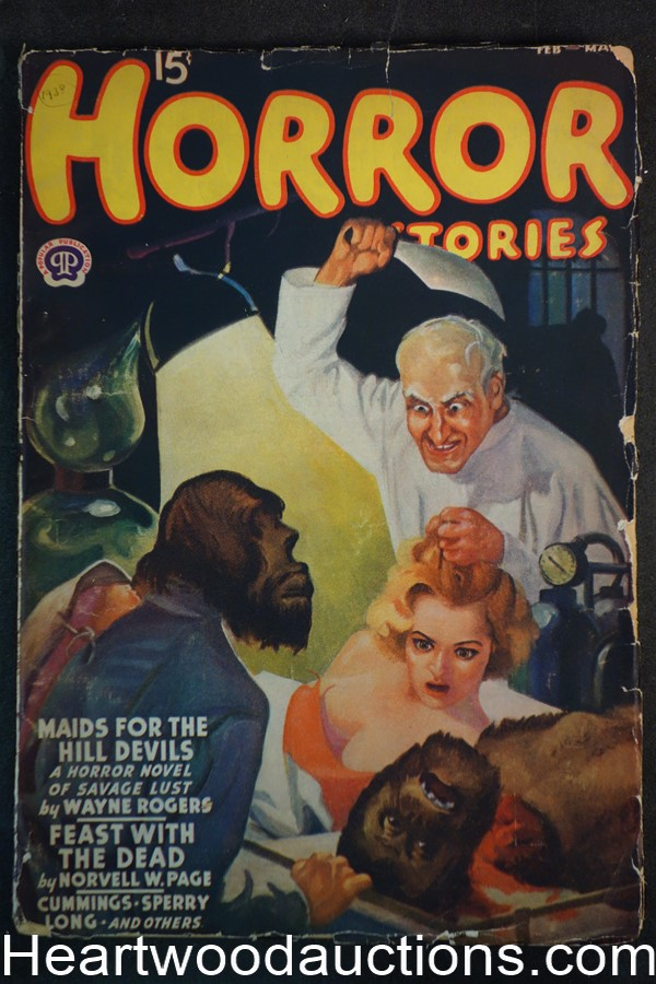 Horror Stories Feb-Mar 1938 Wayne Rogers, Norvell W. Page, Ray Cummings