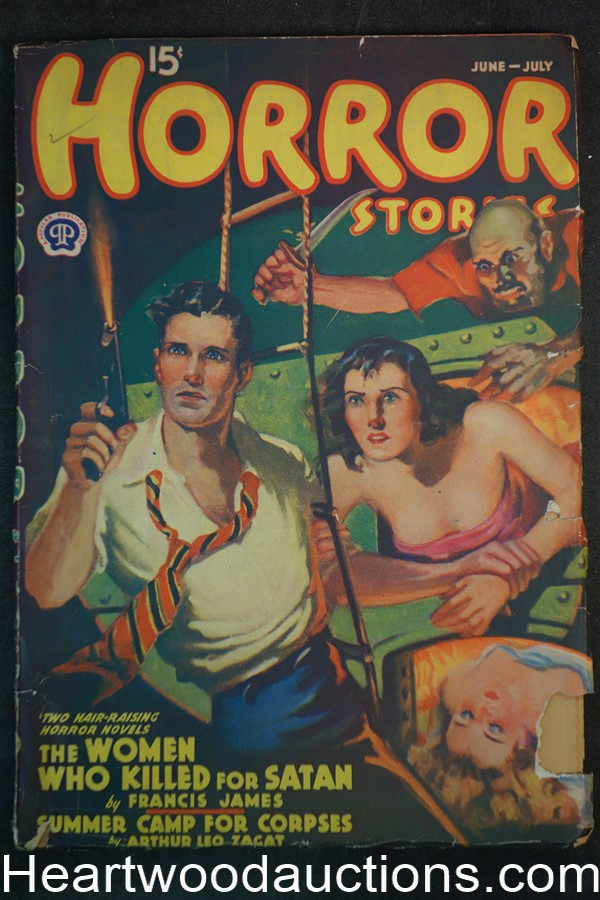 Horror Stories Jun-Jul 1939 Wyatt Blassingame, Arthur Leo Zagat