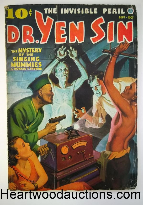 Dr. Yen Sin Sep 1936 Jerome Rozen art; GGA Bondage and Torture Cover; Frank Gruber