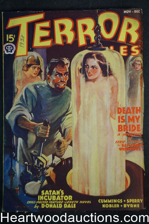 Terror Tales Nov-Dec 1938 GGA Morey torture Cvr, Ray Cummings, Henry Treat Sperry - High Grade