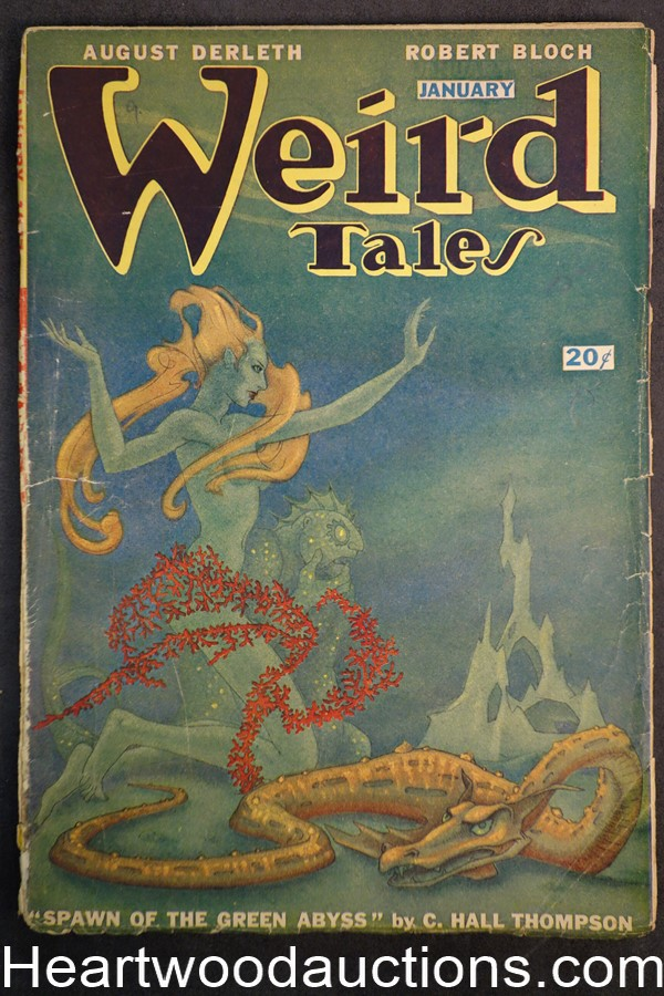 Weird Tales (Canadian) Jan 1947 Manly Wade Wellman, Ray Bradbury, August Derleth