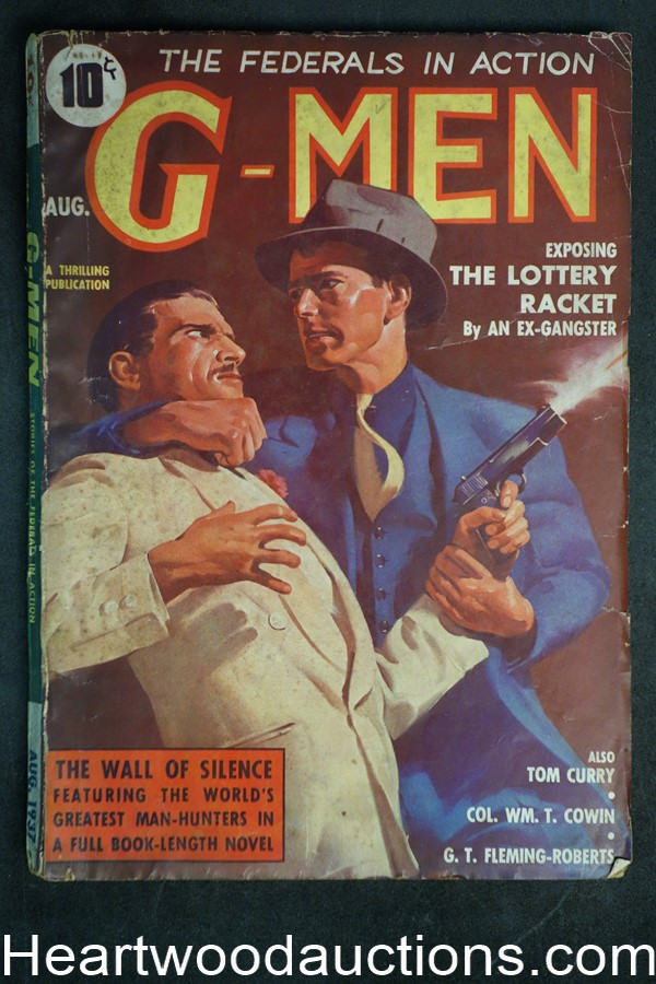 G-Men Aug 1937  45 Cover, The Lottery Racket