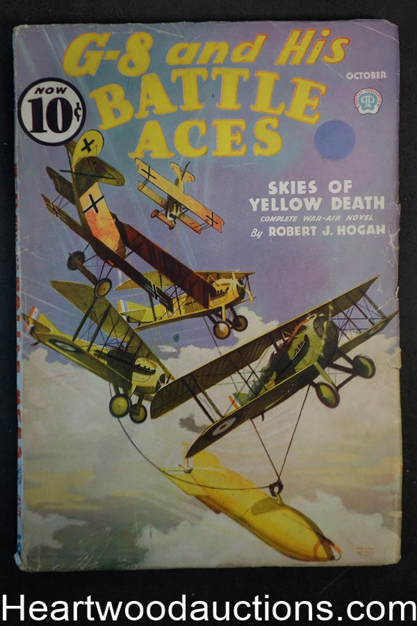 G-8 Battle Aces Oct 1936  Fredrick Blakeslee Cvr