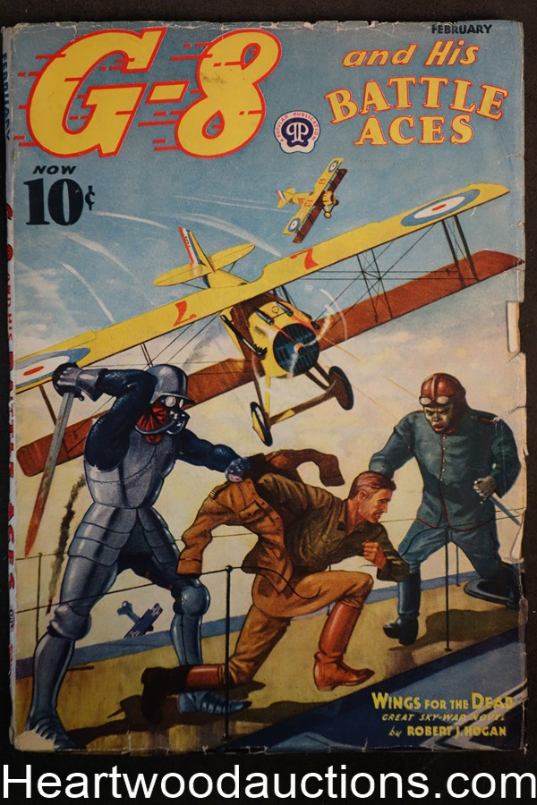 G-8 Battle Aces Feb 1938 Fredrick Blakeslee Cvr