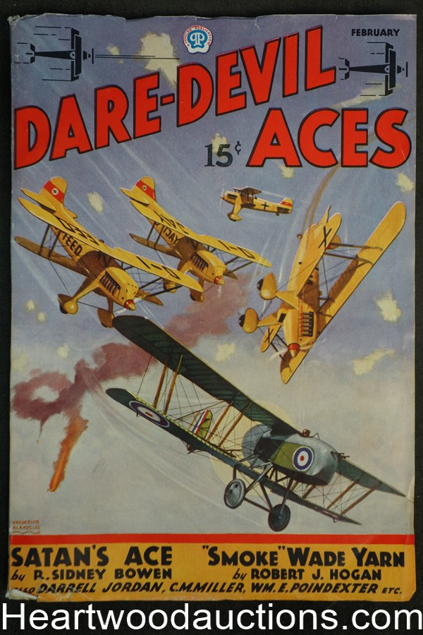 Daredevil Aces Feb 1936 Blakeslee Cover
