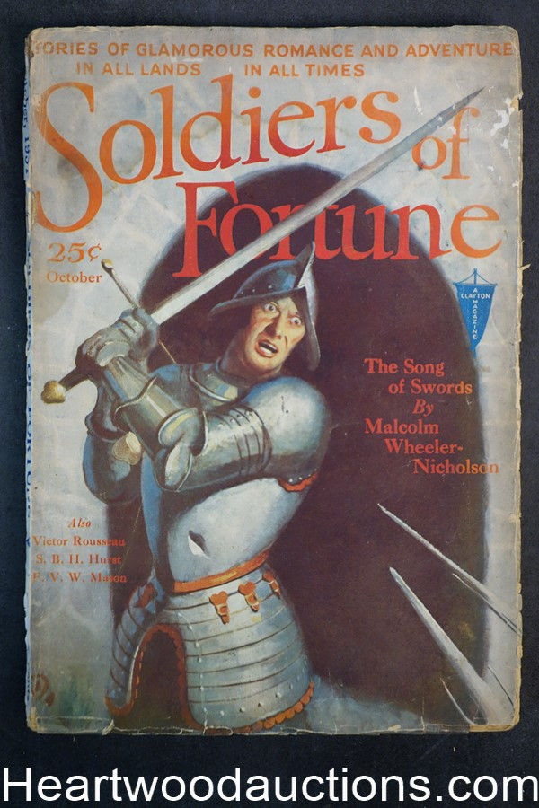Soldiers of Fortune Oct 1931 1st Issue - Armored Knight Cover