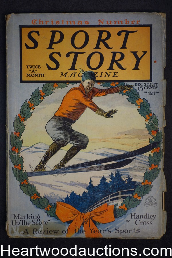 Sport Story Magazine Dec 22, 1927 Christmas Edition, Raoul F. Whitfield
