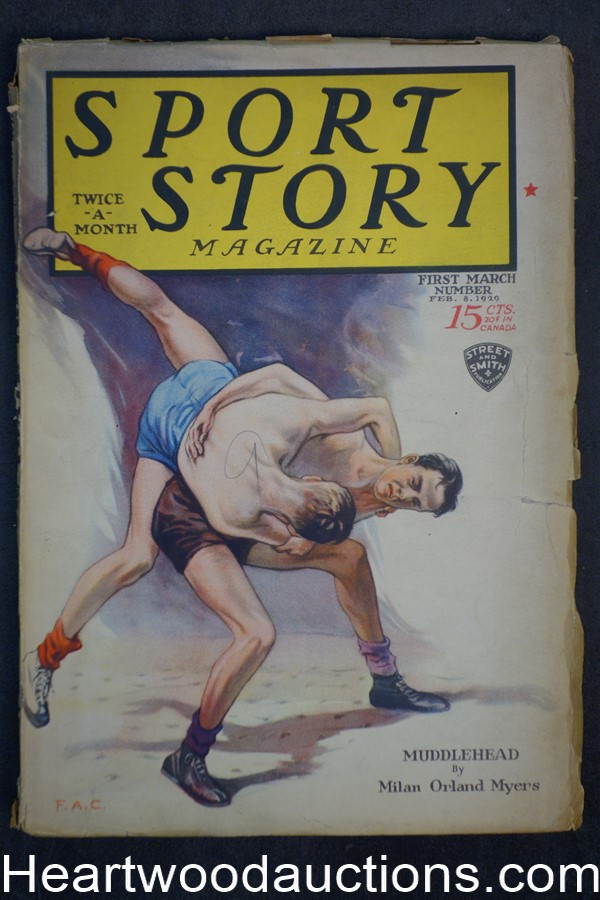 Sport Story Magazine Feb 8, 1928 Basketball Cvr, Kingsley Moses
