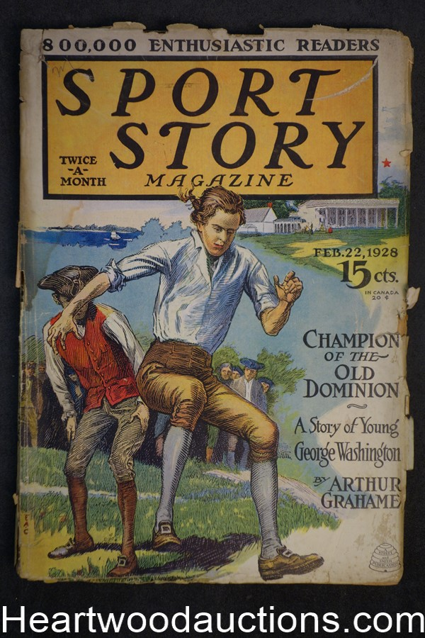 Sport Story Magazine Feb 22, 1928 George Washington cover