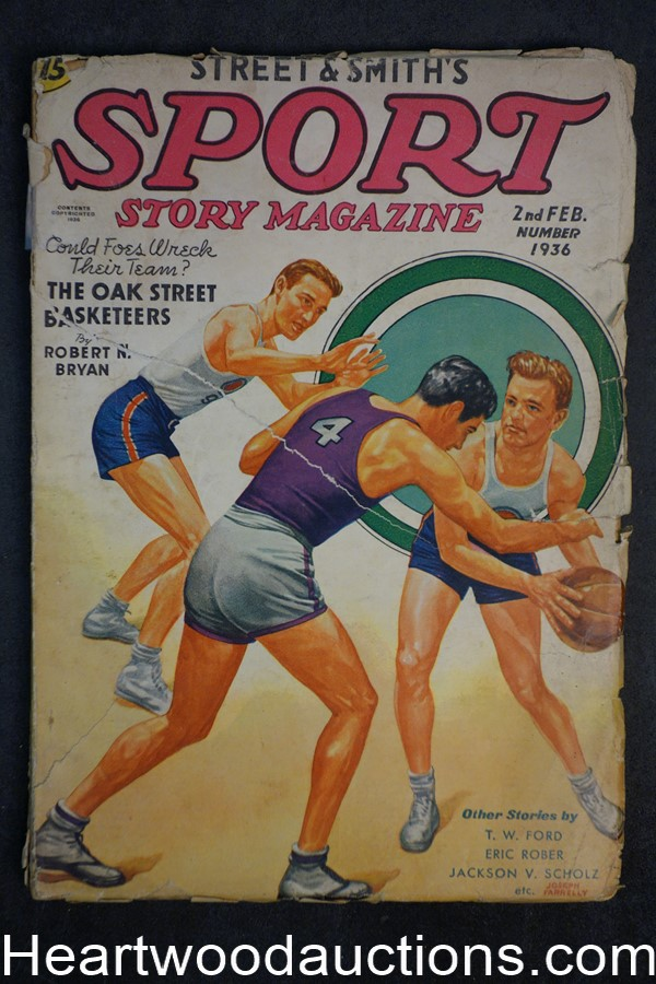 Sport Story Magazine Feb 15, 1936 Joseph Farrelly Basketball Cover